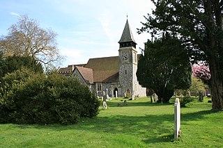Stoke dAbernon village in the borough of Elmbridge in Surrey, England