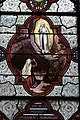 Stained glass window of St. Bernadette de Soubirous - Basilica of the Immaculate Conception - Lourdes 2014.JPG