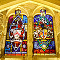 Stained glass windows in Crypt, Guildhall, City of London (3).jpg