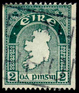 1935 Irish 2d coil stamp