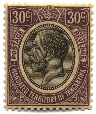 Postage stamps and postal history of Tanganyika - 30-cent George V, 1927