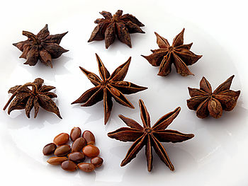The spice star anise is distilled to make star...