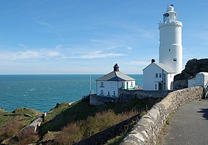 Start Point Lighthouse, in the south of Devon,...