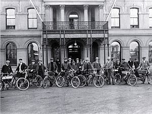 Motor sport in New Zealand - 1904 motor cycle reliability run Oxford to the West Coast