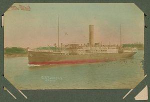 SS Yongala - Postcard of SS Yongala from c. 1905