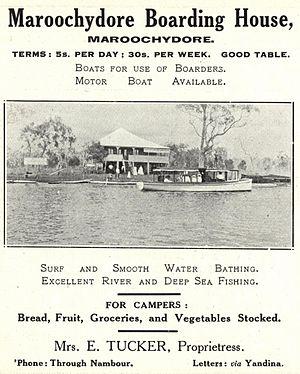 Boarding house - Maroochydore Boarding House, Queensland, ca. 1917