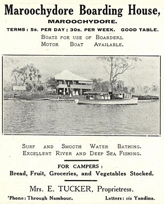 Boarding house - Maroochydore Boarding House, Queensland, ca. 1917