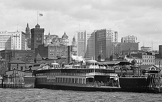 Staten Island Ferry - The ferryboat Castleton at the Whitehall Street terminal