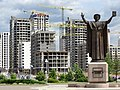 Statue of Francisk Skoryna - Outside National Library - Minsk - Belarus (27546470995).jpg