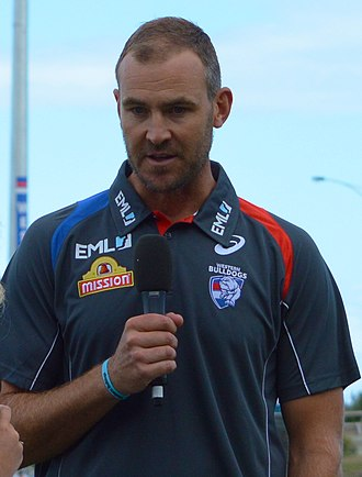 Steven King (footballer) - King in his role as Western Bulldogs backline coach in February 2017