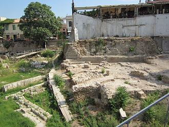 Stoa Poikile - Ruins of the Stoa Poikile.