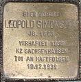 Stolperstein Ebertallee 201 (Leopold Simonsohn) in Hamburg-Bahrenfeld.JPG
