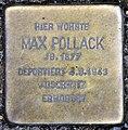 Stolperstein Konstanzer Str 4 (Wilmd) Max Pollack.jpg
