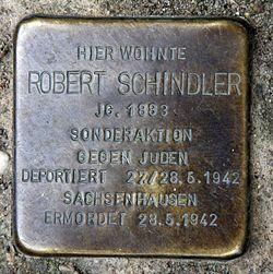 Photo of Robert Schindler brass plaque
