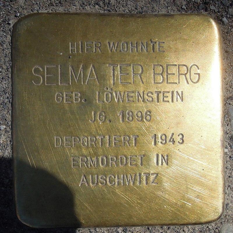 Stolperstein Olsberg Bigge Bruchstraße 1 Selma ter Berg.JPG