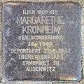 Stolperstein Schillerstr 13 (Charl) Margarethe Kronheim.jpg