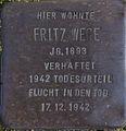 Stolperstein Solingen Ahornstraße 4 Fritz Wege.jpg