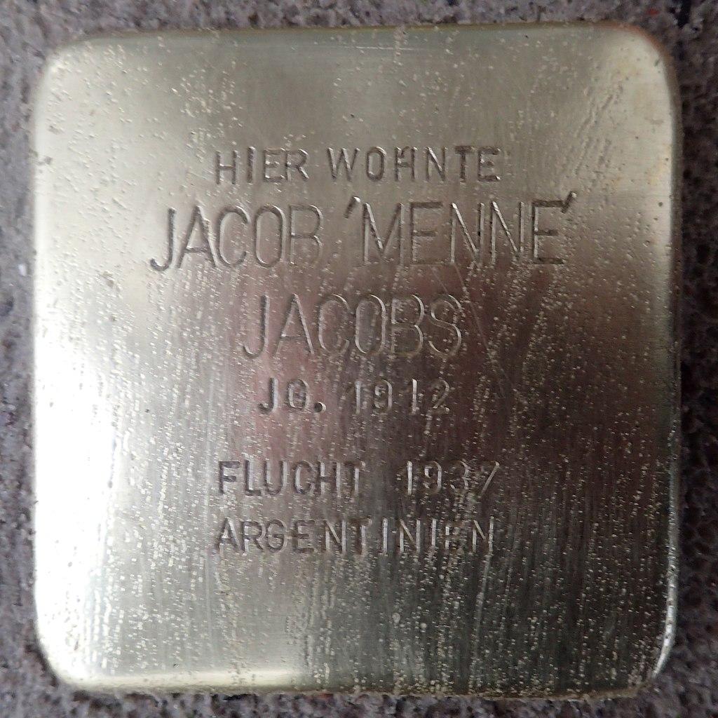 Stolperstein für Jacob Jacobs