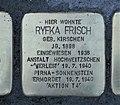 Stolperstein für Ryfka Frisch, Wiesenstraße 10, Chemnitz.JPG