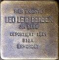 Stumbling block for Leo Leib Berber (Silvanstraße 11)