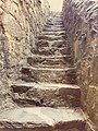 Stone steps in Harlech castle (42612591824).jpg