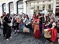Street musicians opposite the guildhall in Court Street - geograph.org.uk - 1476078.jpg