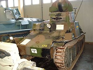 AH-IV - Stridsvagn m/37 on display at Swedish Army Museum in Stockholm, Sweden.