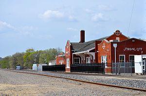 Strong City, Kansas - Strong City ATSF depot (2015)