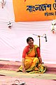 Student perform on Pohela Falgun celebration at Muktamancha in University of Chittagong (02).jpg