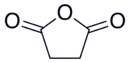 Skeletal formula of succinic anhydride