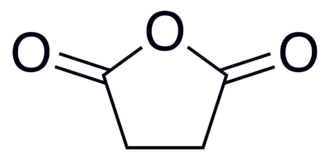 Succinic anhydride - Image: Succinic anhydride 2D Skeletal