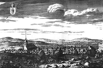 Västerås - Västerås circa 1700, in Suecia antiqua et hodierna.