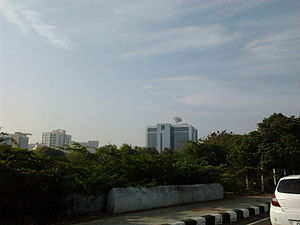 Foreshore Estate - Sun Network Headquarters as seen from Foreshore Estate.