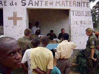 Democratic Republic of the Congo general election, 2006 - A polling place in eastern DRC