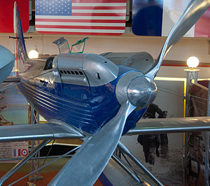 Supermarine S.6 - A view of the propeller, engine nacelle and exhausts.
