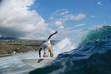 Surfing Flores Island Bc