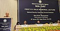 "Sushilkumar Shinde addressing at the first RV Raju Memorial Lecture on ""National Security- Expanding Terrorist Dimension"" on the occasion of first NIA day, in New Delhi. The Governor of West Bengal.jpg"