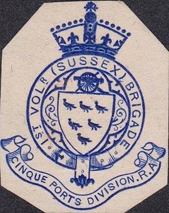 1st Sussex Artillery Volunteers - Letterhead of the 1st Sussex Artillery Volunteers, c1900