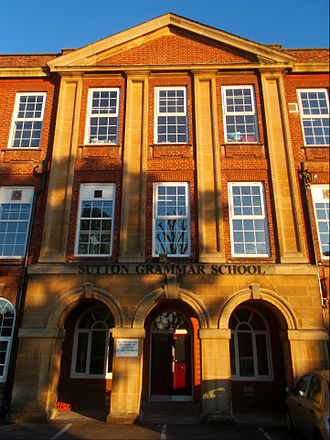 Grammar school - Sutton Grammar School in Sutton, London, one of five remaining grammar schools in the London Borough of Sutton