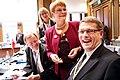 Sveriges vice statsminister, Maud Olofsson och Finlands statsminister, Matti Vanhanen. Nordiska radets session i Stockholm 2009 (1).jpg