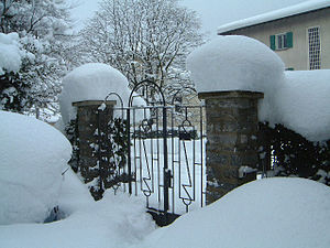 Arbedo-Castione - Image: Switzerland Ticino, rare to see so much snow in the south