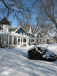 The federally designated Sycamore Historic District in Illinois.