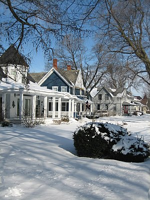 Historic districts in the United States - The federally designated Sycamore Historic District in Illinois