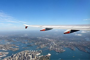 Sydney Harbour from Jetstar Koch.jpg
