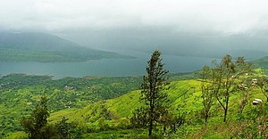 Panchgani - View from Sydney Point, Panchgani in monsoon.