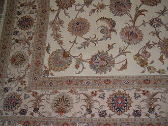 East Azerbaijan Province - A sample of Tabriz rugs