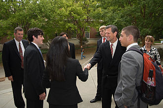 Terry College of Business - Former Viacom executive Jimmy Barge meets with students following his Terry Leadership Speaker Series presentation, January 2010