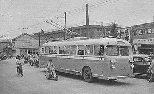 トロリーバス試運転