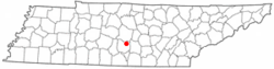 Location of Bell Buckle, Tennessee