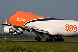 Een Boeing 747-400F van TNT Airways